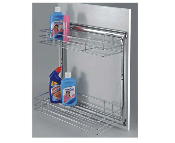 Pullout Adjustable & Bathroom Shelf